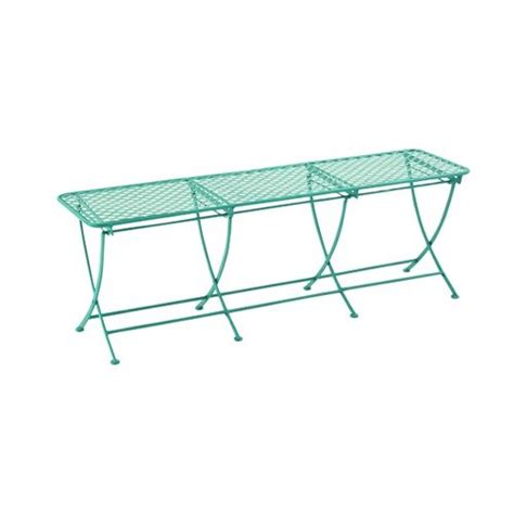 metal backless bench uma enterprises diamond band panel 60 in metal backless