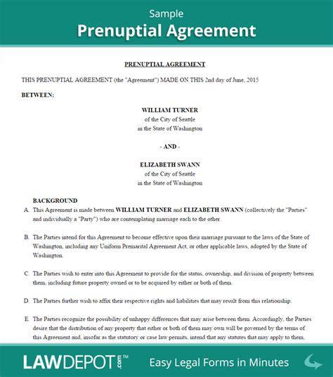 prenuptial agreement form  prenup forms  lawdepot