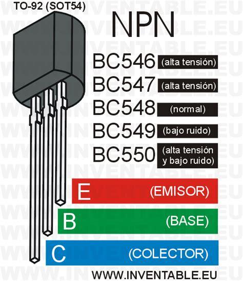 el transistor bc548 y la serie bc546 bc547 bc549 bc550 inventable eletric ideias