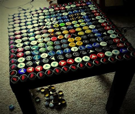 bottle cap coffee table coffee table with left bottle caps