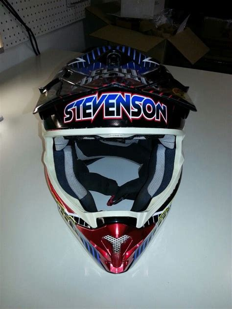 Front View Of Helmet Wrap Elitemxgraphix Custom Helmet