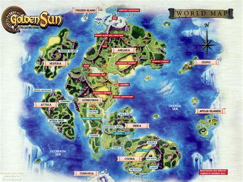 golden sun world map theme world maps