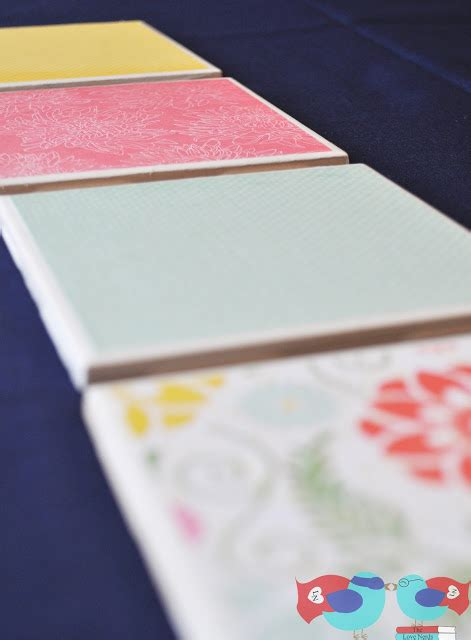 How To Make Paper Coasters - how to make coasters with scrapbook paper and mod podge