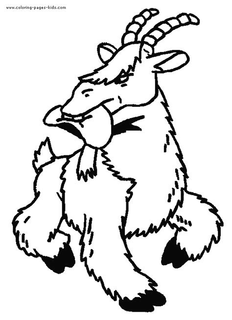 cartoon goat coloring page free cartoon goats coloring pages