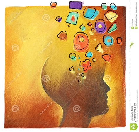 abstract pattern idea creative ideas abstract colorful head symbol stock