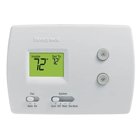 Thermostat Home Depot by Honeywell Digital Non Programmable Thermostat For Heat Pumps Rth3100c The Home Depot