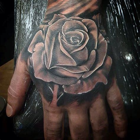 black and white rose tattoo for men 75 black and white tattoos for masculine ink designs