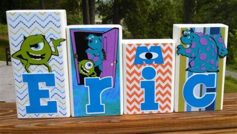 Monsters Inc Nursery Decor Monsters Inc Personalized Wood Name Blocks Nursery Name Boy Blocks Blocks Nursery Decor