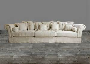 Oversized sofa in sand linen fabric sofas sofas living room