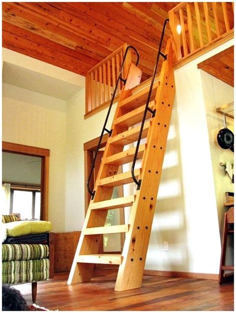 drawbridge style stairs lift up to secure treehouse retreat guest bedroom loft with ships ladder i d love to once