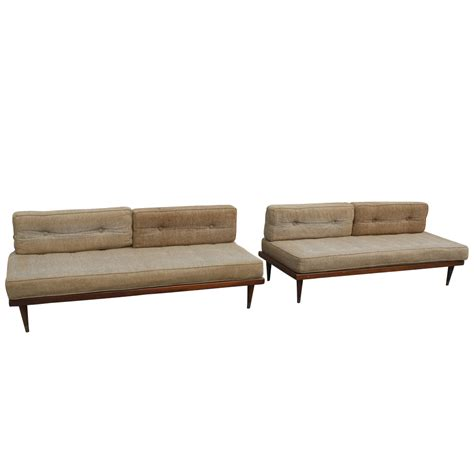 day bed sofas 1 mid century modern day bed sofa couch ebay