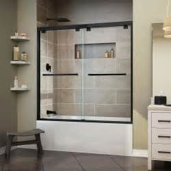 dreamline encore 60 in x 58 in frameless sliding tub