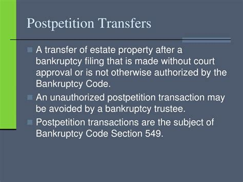 bankruptcy code section 548 ppt chapter twelve the automatic stay 11 u s c 362