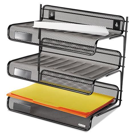 3 Tier Desk Shelf by Mesh Three Tier Letter Size Desk Shelf By Rolodex Rol22341