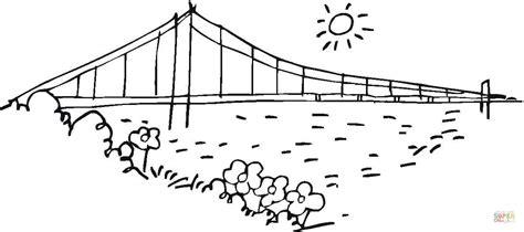 bridge golden gate in san francisco coloring page free