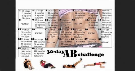 30 day ab challenge images fitness with ab challenge