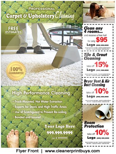 Carpet Cleaning Flyer 8 5 X 11 C0002 Carpet Cleaning Postcards Templates