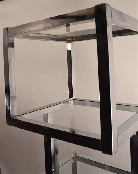 Etagere 8 Cubes by Chrome Cube Form Etagere For Sale At 1stdibs