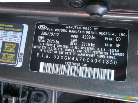 2012 kia optima ex color code photos gtcarlot