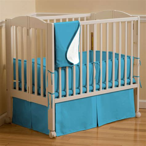 Simple Cribs by Solid Turquoise Bedding Simple White Nursery Bedroom
