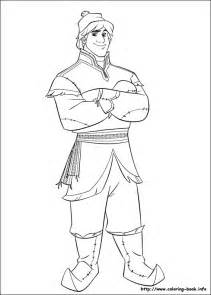 kristoff colouring pages