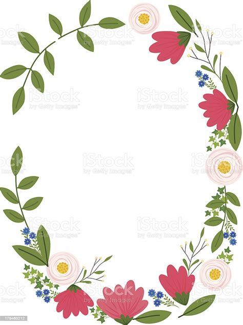 simple floral frame stock illustration  image