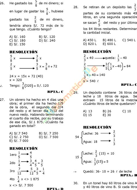 ejercicios de fracciones de cuarto de primaria ejercicio de fracciones clases resueltos para cuarto de