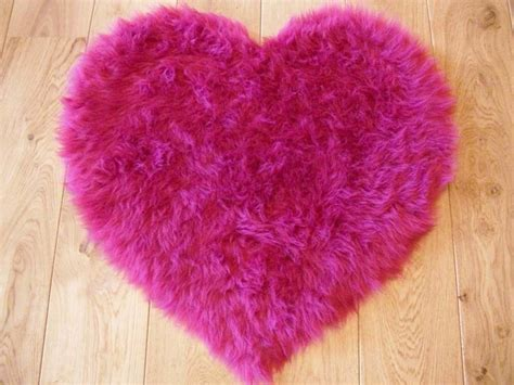 fluffy bright pink bedroom rugs mat for bedside