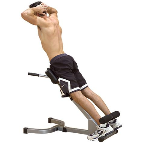 bench back workout body solid 45 degree hyperextension fitness sports