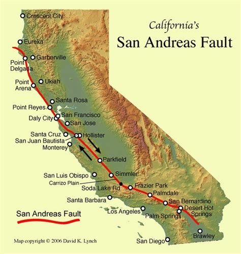 san andreas map san andreas fault california map california mappery