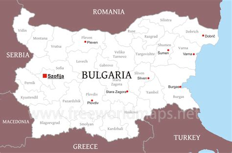 political map bulgaria map  bulgaria