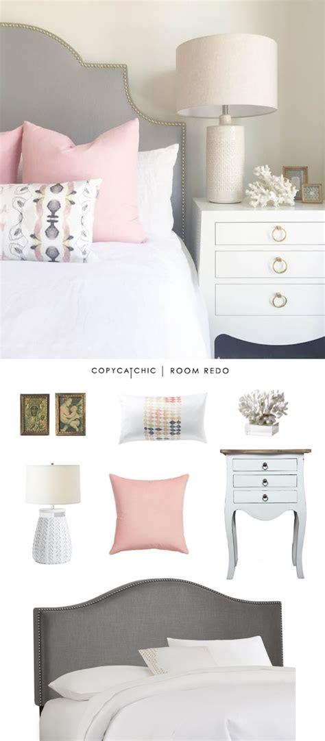 pink and grey bedroom copy cat chic room redo pink gray bedroom copycatchic