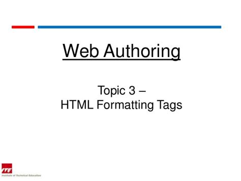 html format for web page web topic 3 html format tags