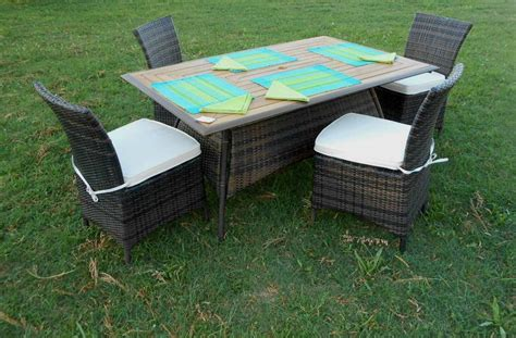 tavoli in rattan da giardino tavoli da esterno in rattan sintetico mobilia la tua casa