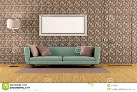Living Room Background Stock Images Sala De Visitas Papel De Parede Do Vintage Foto De