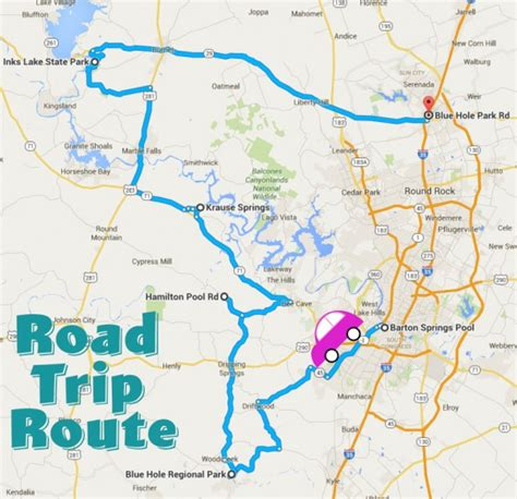 texas hill country road trip map road trips the daytripper