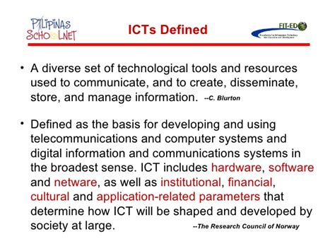 thesis about educational technology in the philippines status of icts in philippine basic education