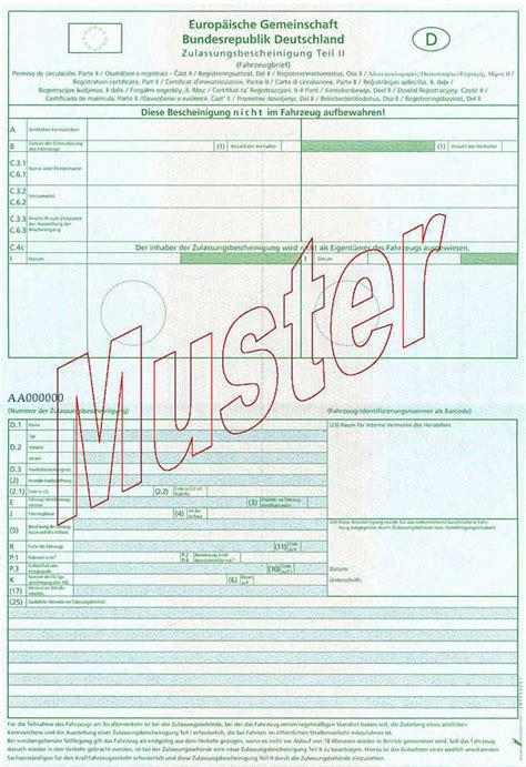 Motorrad Zulassung Teil 2 by Anpassung Der Fahrzeugpapiere Bei 196 Nderungen Ordnungsamt