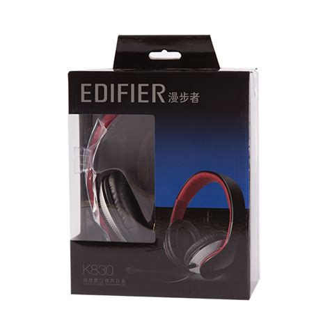 Edifier K830 K 830 High Quality Multimedia Headset With Mic Black edifier wired headset k830 blk end 9 21 2020 8 00 am