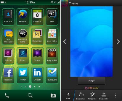 themes black berry mobile theme released for blackberry 10 customize your z10