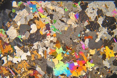 scapolite in thin section corundum scapolite syenite canada thin section microscope