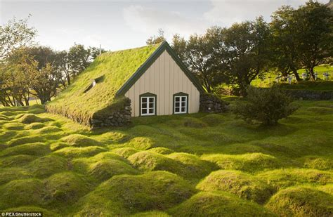 The real life grass topped buildings that look just like