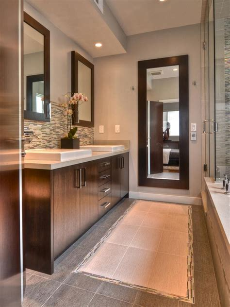 narrow master bathroom contemporary bathroom photos hgtv