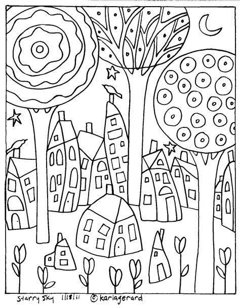 free coloring pages of an folk art