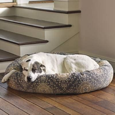 frontgate dog bed ashton patterned donut pet bed frontgate