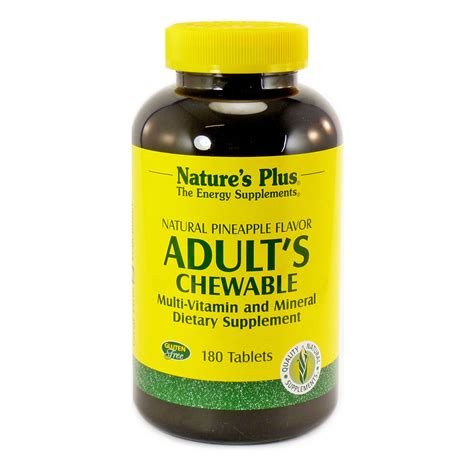 Multivitamin Plus s chewable by nature s plus 180 tablets