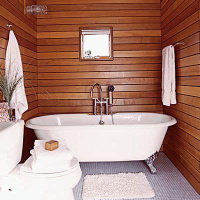 bathroom lieu cedar wood panels in the bathroom looks like a sauna
