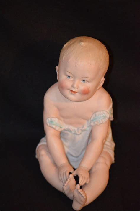 bisque piano doll antique doll piano baby heubach large bisque figurine from