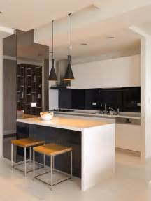 White Kitchen Black Island by Black White Kitchen Island Interior Design Ideas