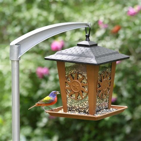 Pole Bird Feeder pet 5107 4 universal bird feeder pole bird feeder accessories patio